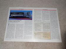 Onkyo Integra Dx-5700 CD Review, 2 Pg , 1990, Full Test, Spezifikationen