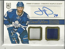 JERRY D'AMIGO RC AUTOGRAPH DUAL 2COL PATCH 2013-14 NATIONAL TREASURES
