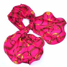 Ralph Lauren POLO Equestrian SILK SCARF Wrap WOMEN BRIDLE Shawl BERRY PINK Belts