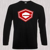 Gatchaman Belt Logo Retro Anime Men's Long Sleeve Black T-Shirt Size S to 3XL