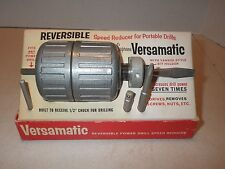 Vintage Supreme Versamatic Reversible Speed Reducer Portable Drill Tool w Box