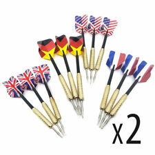 24 SETS NEW Steel Tip Darts Slim Barrel With Nice Dart Flights US Shipping
