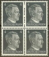 Stamp Germany Mi 783 Sc 508 Block 1941 WW2 Fascist Adolf Hitler MNH