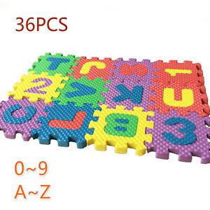 Dollhouse 36Pcs Set EVA Floor Cushion Scale Alphanum Jigsaw Miniature Decor