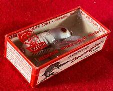 F2) Vintage Heddon Dowagiac 320-Xrs Tiny Crazy Crawler Fishing Lure w Box Nos