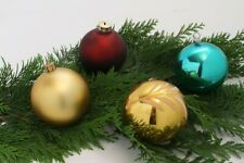 7 Christmas Ball Tree Glass Sphere Decoration Different Colors