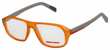 Prada Sport Eyeglasses PS 05GV UFL1O1 55 Transparent Orange Frame [55-16-145]