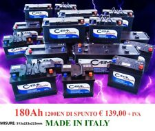 BATTERIA CAMION TRATTORE etc... MADE IN ITALY 180AH SPUNTO 1200!!