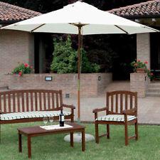 Ombrellone da giardino in legno rotondo diametro 3 ideale per esterno resistente