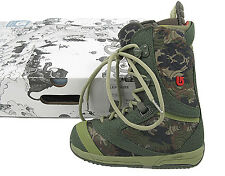 New Burton Sapphire Snowboard Boots! Us 4 Uk 2.5 Euro 34 Mondo 21 *Green Camo*