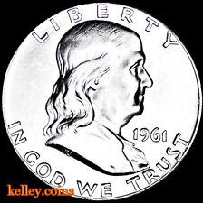 1961 50C Franklin Silver Half Dollar BU