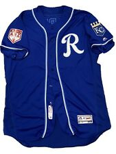 MLB Authenticated - Yunior Marte Blue Spring Training Jersey Issued By Royals