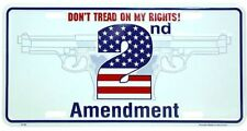 2nd Amendment Don't Tread on my Rights Tag 00006000  Car Metal Automobile License Plate