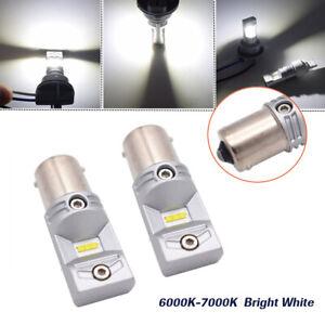 1 Pair LED Backup Reverse Brake Light High Power 6000K 100W Bulb 1156 5007 7506