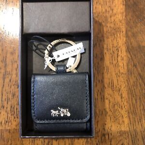 COACH Black Horse & Carriage keychain photo New in box Unique