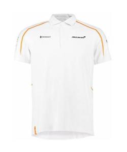 NEW Mens McLaren Renault F1 Team Polo T-Shirt White Size M Formula One