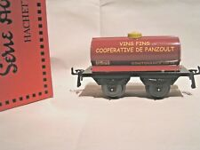 TRAINS HORNBY/HACHETTE ech/scale O 1/43 - WAGON CITERNE COOP. PANZOULT + Boîte