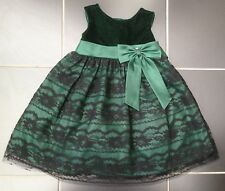 ••• ВNWT Girls' Party Outfit • Olivia Rose Velvet Lace Dress with Gem • 24 mons