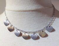 collier vintage argent 925 pur poinçon pampilles vermeil et argent diamanté 5329