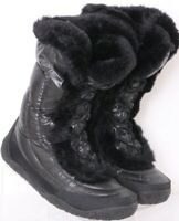 The North Face Nuptse Fur IV Quilted Puffer Lace-Up Winter Boots Women's US 8