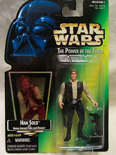 1997 Star Wars Power Of The Force Han Solo With Assault Rifle & Blaster NEW