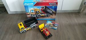 Playmobil City Action 70444 LKW mit Wechselaufbau Laster Mulde Kipper Baustelle