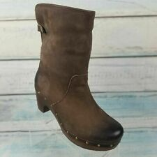 $200 UGGS WOMEN'S BROWN LEATHER GENUINE SHEEPSKIN BOOTS 3207 SIZE 8 NEW TAGS