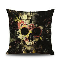 Halloween Skull Pattern Square Throw Pillow Case Cushion Cover Sofa Decor, V7O2