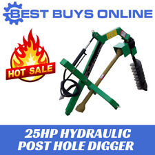Post Hole Digger Hydraulic Tractor 25 HP Gearbox PTO Shaft Included