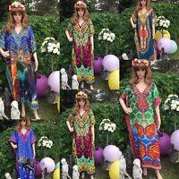 Kaftan free size loose hippy boho kimono sleeves bat wings tribal prints kaftan