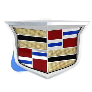 "OEM NEW Rear Trunk Decklid Emblem ""Crest"" 11-15 Cadillac CTS 25840466"