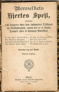 IMPORTANT RELIGIOUS BOOK THE HEART OF MAN BY JOHANNES GOSSNER 1886: