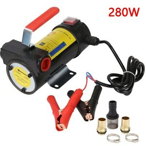 Pump Extractor Oil Diesel Transfer Pump Liquid 12V Electric motor 280W 45L/Min