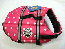 Paws Aboard Dog Life Jacket Size Small 15-20 Pounds Pink Polka Dot