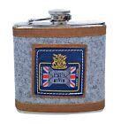 New Stainless Steel Vintage 6 oz Hip Flask for drinks,6 designs,Men's Gift,