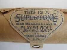 "Vintage ... This Is A ""Supertone"" Perforated Roll Piano Player Music!!"