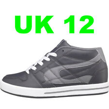 DuFFS Mens Skate Shoes Charcoal/Grey UK 12 Skater Board Trainers Duff