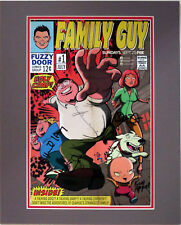 Family Guy Autographed By 6 SDCC Poster Custom Matted to16x20 Comic Con