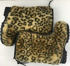 NWOB Sporto Insulated Thermolite Plush Leopard Print Snow Boots 6 1/2 M
