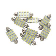 8X Bombilla Lampara 16 LED 3528 SMD 12V Luz Blanco Coche N5I6
