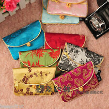 Wholesale 10pcs Chinese Handmade Stylish Brocade Card Bag Purse With Button New
