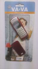 Fascia di sostituzione per Nokia 1100-Coperchio Alloggiamento Custodia & TASTIERA ROSSO