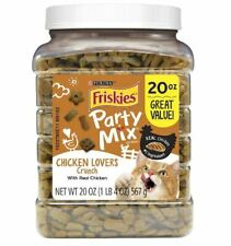 Purina Friskies Party Mix Adult Cat Treats Canisters Chicken Flavor Crunchy Food