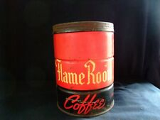ANTIQUE FLAME ROOM TIN COFFEE CAN McGARVEY ATWOOD CO. Collectable decor