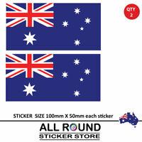 2 X Australian Flag Decal sticker JDM  drift rally road racing car window