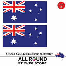 2 X Australian Flag Decal sticker JDM  drift rally road racing car window