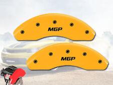 "2005-2015 Smart Fortwo Front Yellow ""MGP"" Brake Disc Caliper Covers 2pc Set"