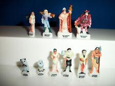 POCAHONTAS Set 10 Miniature FEVES Figurines FRENCH Porcelain Mini Figures DISNEY