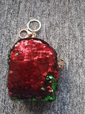 KEY HOLDER bambini portamonete mini wallet Glitter Paillettes Borsa Frizione Festa