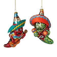 2016 Chili Mexican Dance Set of 2 Christmas Tree Ornament Holiday Gift 121040